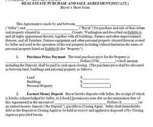 Agreement Letter For House Sale House For Sale Contract