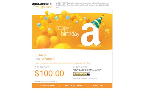 How To Send Amazon Gift Card By Email - amazon com amazon gift card print happy birthday cake gift cards