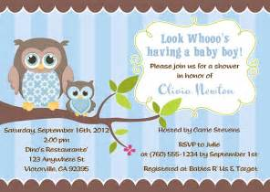 Owl Baby Shower Invitation Wording Owl Baby Boy Quotes Quotesgram