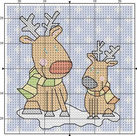 imagenes catolicas en punto de cruz renos de navidad en punto de cruz punto de cruz