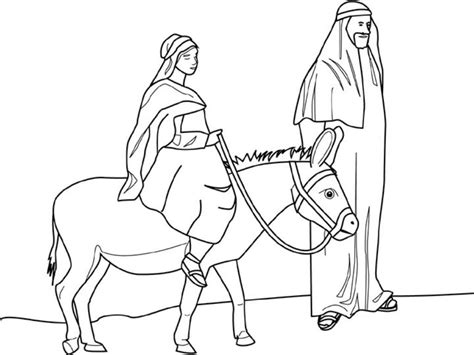coloring pictures mary joseph free coloring pages of mary on a donkey