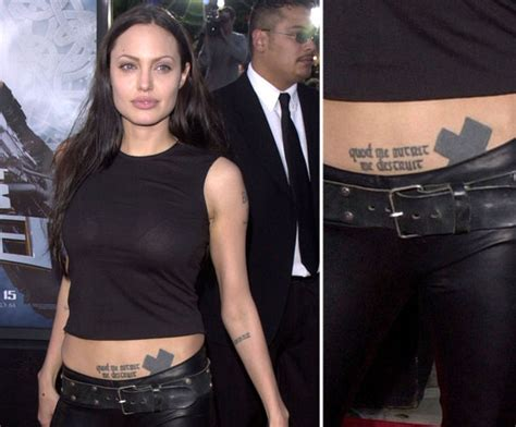 angelina jolie tattoo amsterdam photos of celebrities who have tattoos popsugar beauty