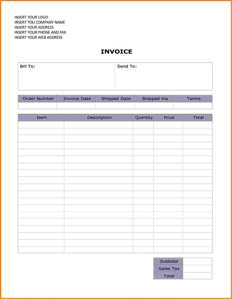 4  editable invoice template word   Short paid invoice