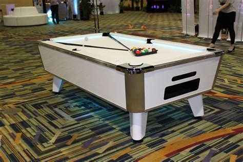 led white pool table florida corporate events