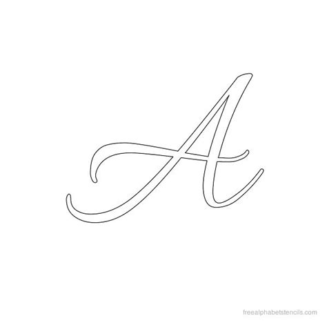 printable letter stencils script allura cursive alphabet stencils freealphabetstencils com
