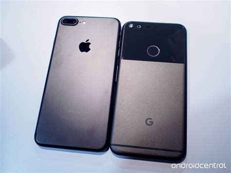 iphone v pixel comparison pixel xl vs iphone 7 plus android central