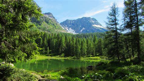 in montagna lago san pellegrino passo san pellegrino val di fassa