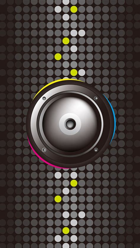 minimal speaker black pink blue android wallpaper