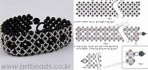 схема браслетов из бисера легкая