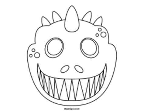 best photos of dinosaur mask template dinosaur mask