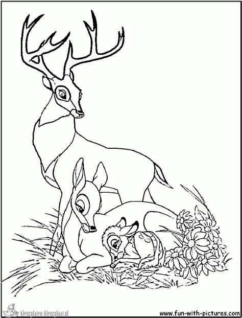 bambi deer coloring pages kleurplaten bambi kleurplaten kleurplaat nl