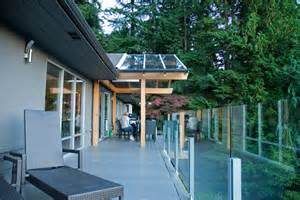 Roof over deck porch industrial with awning clear roof awning