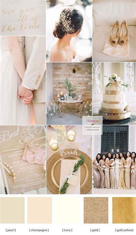 best 25 chagne wedding colors ideas on