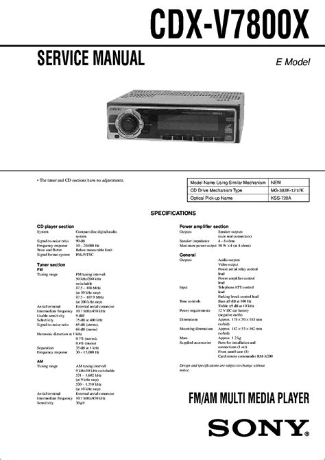 sony cdx r3000 wiring diagram 29 wiring diagram images
