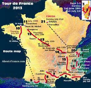 Tours France Map by The Tour De France In English Route And Map