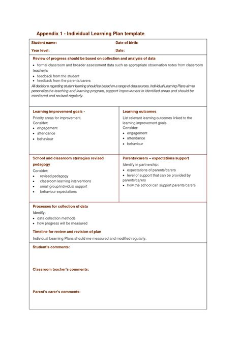 28 individual behaviour management plan template
