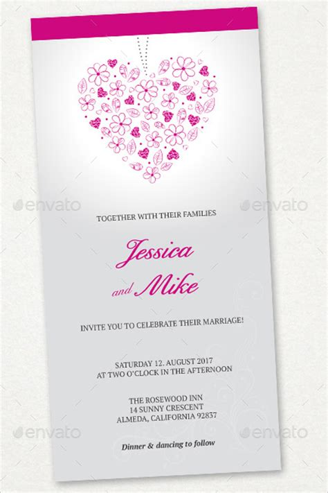 30 wedding menu templates free word pdf psd card