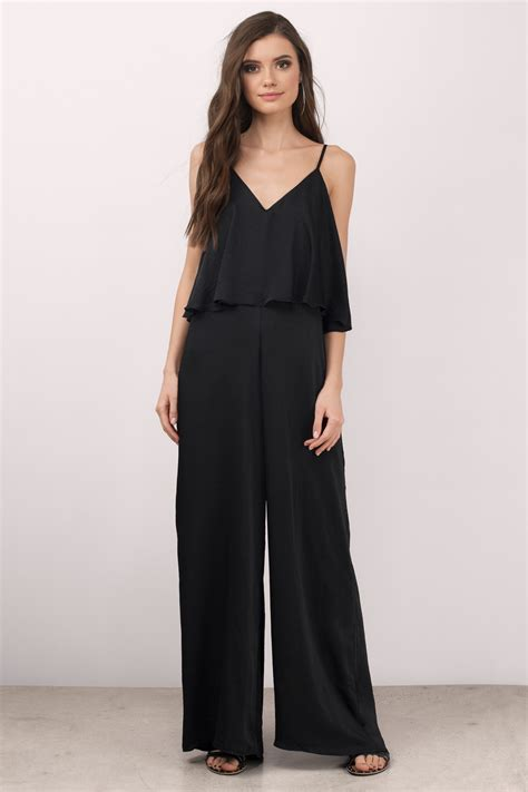 Jump Suit black jumpsuit tiered jumpsuit chic jumpsuit