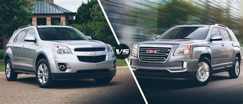 gmc terrain vs chevy equinox the 2016 chevy equinox vs 2016 gmc terrain