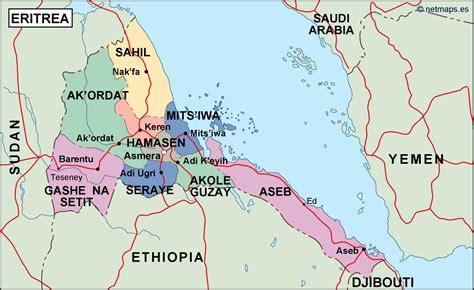 eritrea map eritrea political map vector eps maps eps illustrator