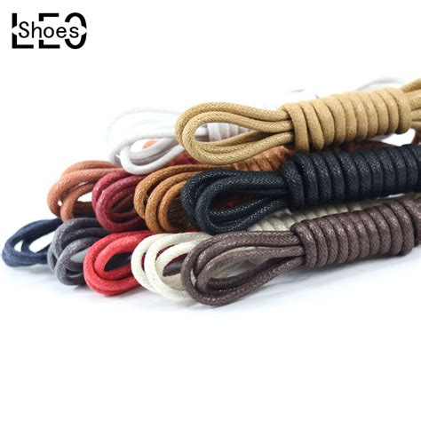 leo 2 pair waxed shoelaces for leather shoes