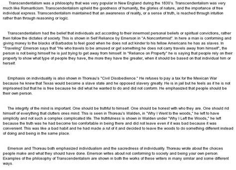 Thoreau Emerson And Transcendentalism Essay transcendentalism essay cultivate the habit of being grateful by ralph waldo emerson ecommerce