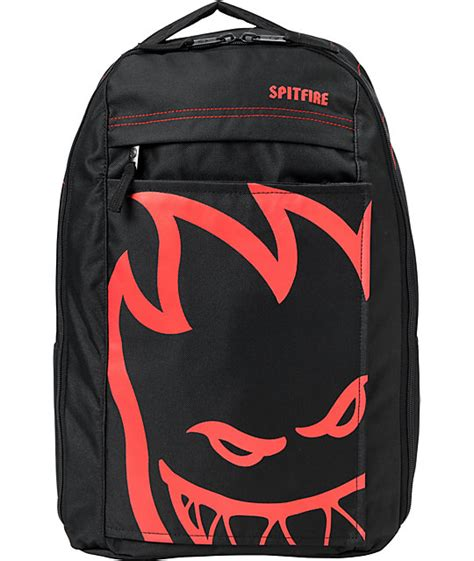 Zipper Anak Spitfire Logo spitfire bighead black skate backpack zumiez