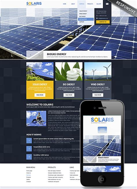 bootstrap themes energy solar energy wordpress template id 300111740 from