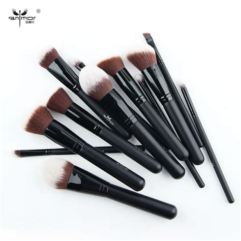 Brush Kit 12 In 1 Kualitas Premium Make Up Proffesional Salon new professional 12 pieces makeup brush set synthetic makeup brushes soft high quality make up