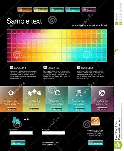Modern Website Template Stock Image Image 18008341 Modern Website Templates