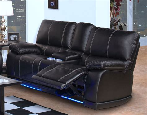 reclining with light up cup holders black leather reclining sofa with cup holders catosfera net