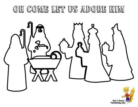 templates for nativity scene free coloring pages of nativity template