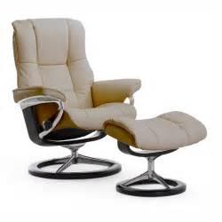 Stressless mayfair medium rocker recliner chair amp ottoman signature