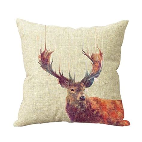 Katun Linen Impor New Cotton Linen decorative cotton linen vintage deer throw pillow cover import it all