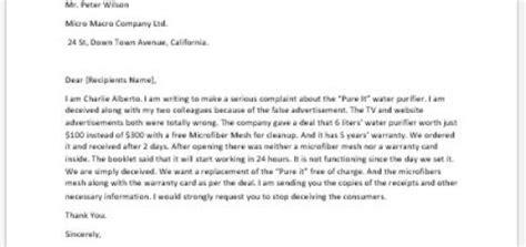 Complaint Letter Misleading Information barking complaint letter to writeletter2