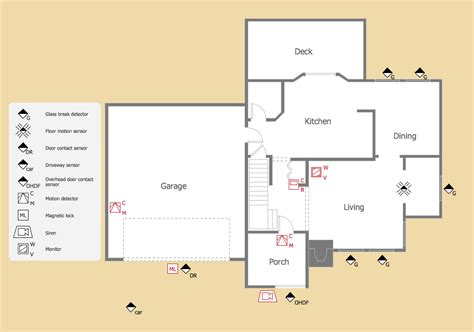 Security Floor Plan | how to draw a security and access floor plan security