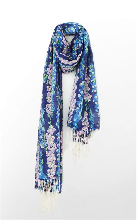lilly pulitzer murfee scarf in bright navy foxy ebay