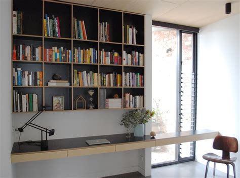 Study Desk With Shelves by Built In Storage By Edge Furniture Custom Built Cabinetry Plywood Formply Shelving Tv