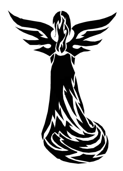 gothic angel tattoo designs tribal design i wouldn t get this