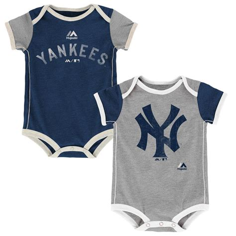 Set Yankees Baby Blue 1 yankees baby school bodysuit duo babyfans