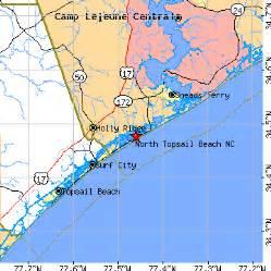 topsail carolina map topsail carolina nc population data