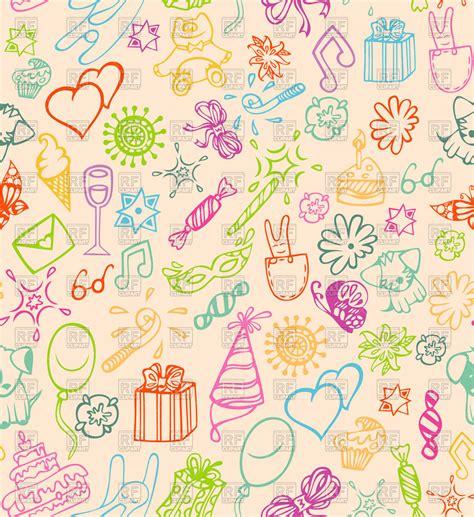 seamless pattern birthday happy birthday seamless pattern royalty free vector clip