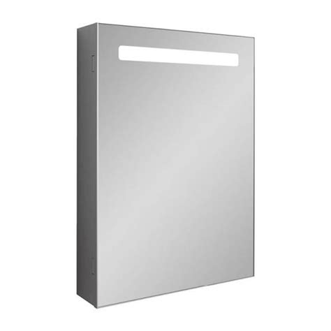 illuminated mirrored bathroom cabinets bauhaus 500mm led illuminated mirrored cabinet
