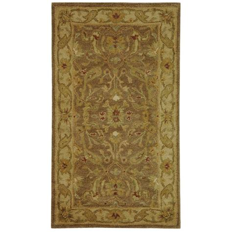 3 X 4 Area Rugs Safavieh Antiquity Brown Gold 2 Ft 3 In X 4 Ft Area Rug At311a 24 The Home Depot