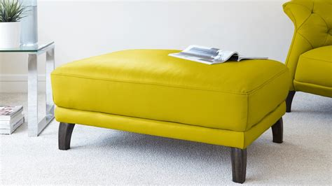 contemporary ottoman modern leather ottoman real leather footstool uk