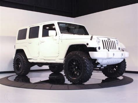 jeep white with black rims my dream vehicle jeep wrangler limited all white with