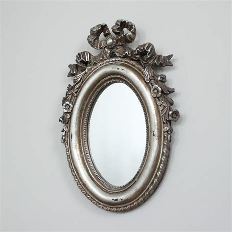 silver oval mirrors bathroom silver oval wall mirror melody maison 174