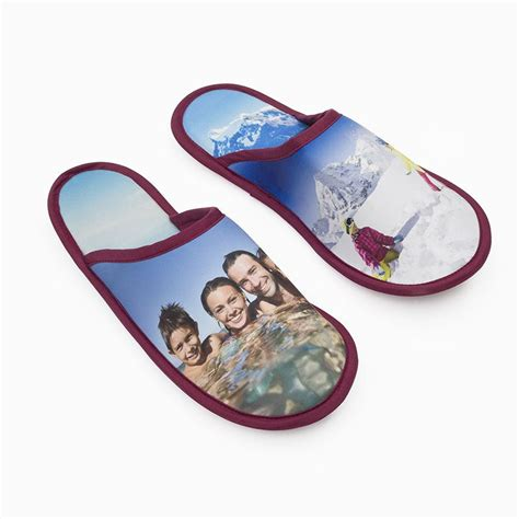 personalised slippers custom slippers with photos customize your own slippers