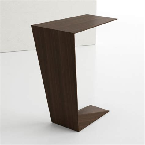 Laptop Side Table Contemporary Wood Angular Laptop Side Table Ambience Dor 233