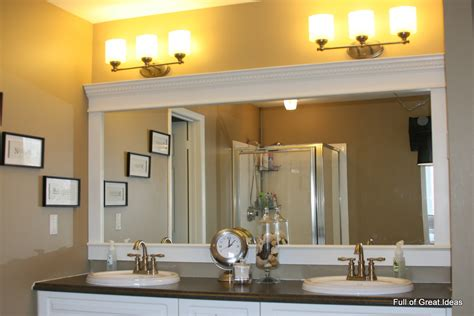 how to frame bathroom mirror with molding full of great ideas how to upgrade your builder grade